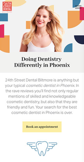 Dental Marketing Client Website 24th Street