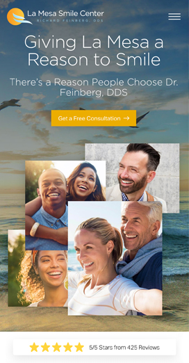 Dental Marketing Client Website Feinberg