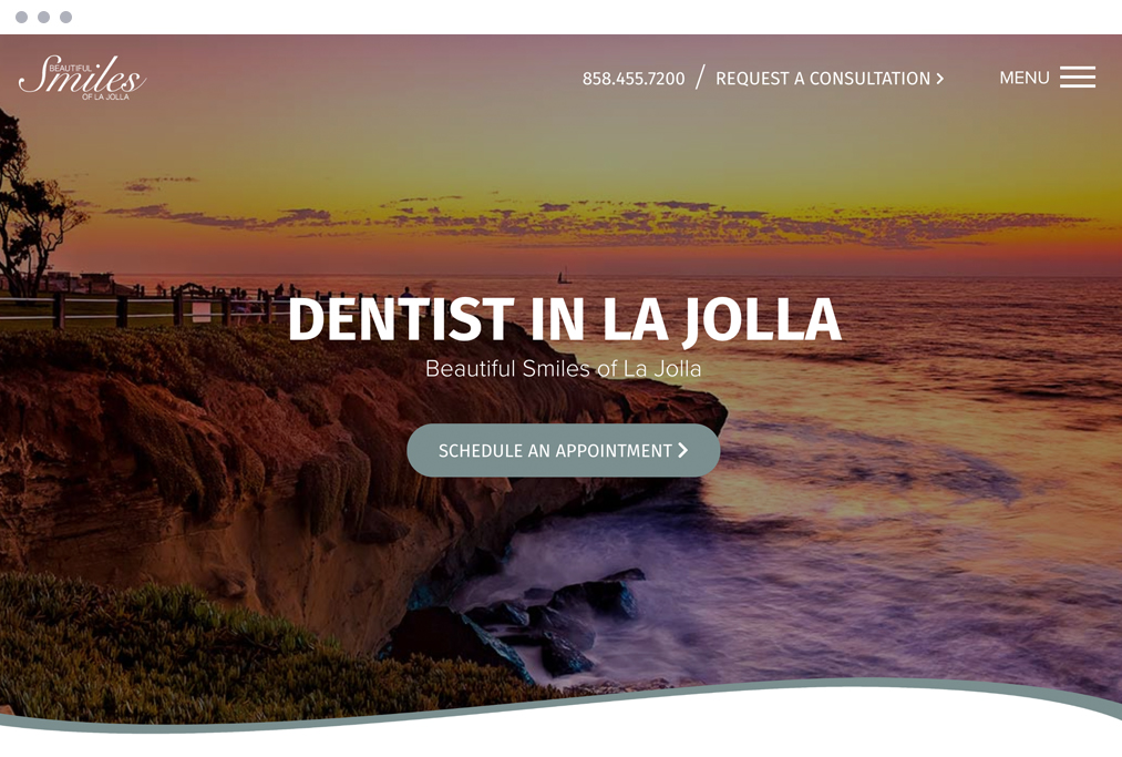 Dental Marketing Client Website La Jolla