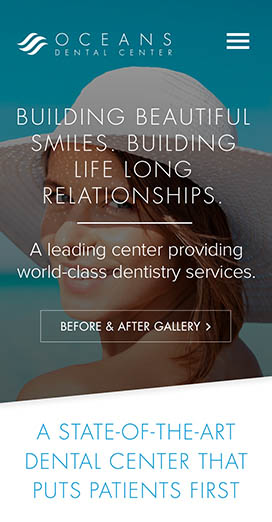 Dental Marketing Client Website Oceans Dental Center